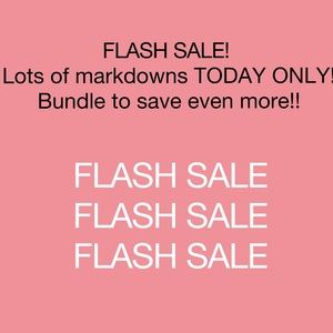 FLASH SALE!  TODAY ONLY!